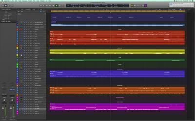 Logic Pro Color Coding Chapter Mix Preparation